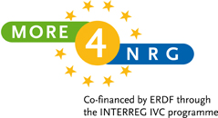 More4NRG-logo, Co-financed by ERDF through the INTERREG IVC programme